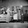 Muriel Kirkland as Isabelle Parry and Marius Rogati as Mario (waiter)in Strictly Dishonorable.
