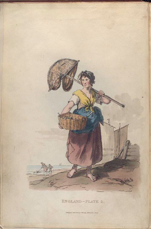 This is What William Alexander and Female shrimper Looked Like  in 1814
