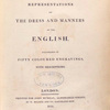 Picturesque representations of the dress and manners of the English....(Title page)