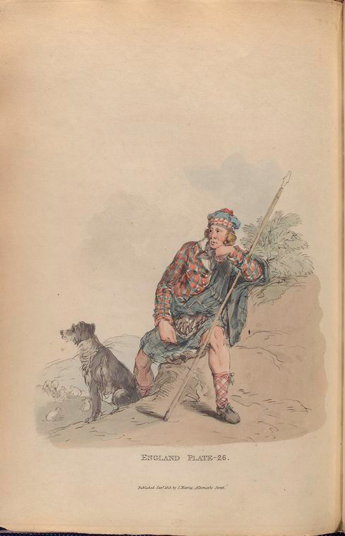 This is What William Alexander and Highland shepherd Looked Like  in 1814