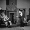 Alfred Lunt as Clarke Storey and Earle Larimore (with pistol) as Alistin Lowe.
