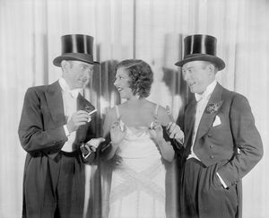 L to R: Clifton Webb, Libby Holman and Fred Allen.