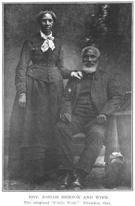 "Rev. Josiah Henson and wife; The original ""Uncle Tom"", Dresden, Ont."