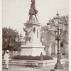 """Santo Domingo.  """" On the pedestal inscribing to Columbus all manner of eulogies is the figure of a Carib queen. """""""