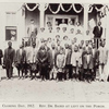 Closing day, 1912. Rev Dr. Baird at left on the porch.