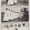 Miss Weimer, Rosetta & David, 1911. ; Coming home from chapel. ; Celestine, Cynthia, Carrie, Lucretia, Lele, Inez, Elizabeth.