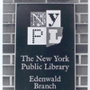 Outdoor sign, Edenwald Library]