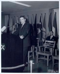 Edward G. Freehafer, Director of NYPL, giving address