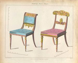 Drawing room chairs.
