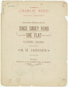 Since Casey runs the flat / words and music by B.H. Janssen.