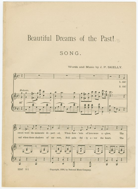 Beautiful dreams of the past / words and music by J.P. Skelly.