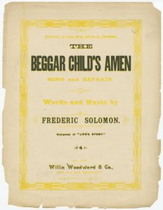 The beggar child's amen / words and music by Frederic Solomon.