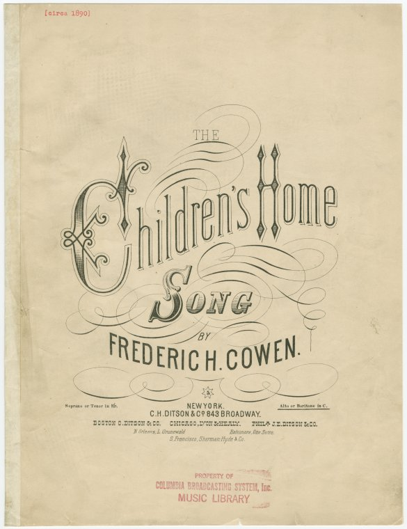 The children's home / [music] by Frederic H. Cowen ; [words by F.E. Weatherly].
