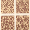 Brocade patterns in one colour upon a light ground....