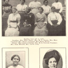 Reading from left to right. Standing - Mrs. Eliza Embry, Mrs. M. L. Brooks, Mrs. Mary Crawford, Mrs. Hattie Craighead, Miss Hattie Harris.  Sitting - Miss Lizzie Crittenden, Mrs. M. E. Steward, President; Mrs. Susie Mitchell, Mrs. Carrie Craig. ; Mrs. M. E. Steward, President Baptist Women's Educational Convention. ; Miss A. P. Kelly, A.B., A.M. Graduate State University.