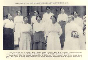 Officers of Baptist Woman's Missionary Convention, 1915.