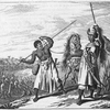 [Warriors marching with spears.]