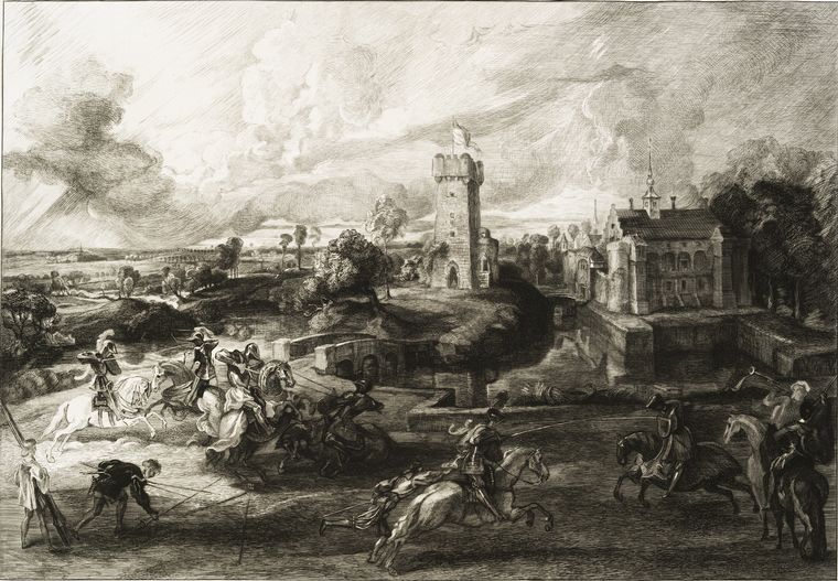 This is What Peter Paul Rubens and [Un tournoi dapr?s Rubens.] Looked Like  in 1862