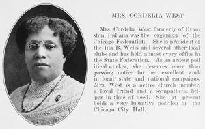 Mrs. Cordelia West.