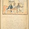 Ice house [Three men at table drinking and smoking.]