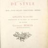 Intérieurs de style.... (Title page)