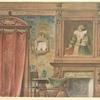 Chambre a coucher Louis XIII . Vue géométrale.