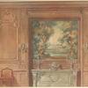 Salle a manger Louis XIV. Vue géométrale.