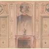 Salon peint style régence, vue géométrale.