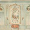 Grand salon Louis XV. Face de portes offrant des peintures....