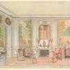 Salon Louis XV, peint en gris vert....