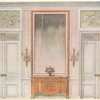 Chambre a coucher Louis XVI. Face des portes....