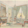 Boudoir cabinet de toilette Louis XVI avec chaise longue....