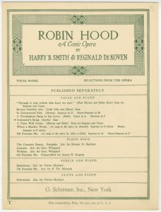 Armourer's song / [lyrics by] Harry B. Smith ; [music by] Reginald De Koven.