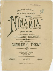 Nina mia = Nina my own / words by Herbert Palmer ; music composed by Charles C. Treat.