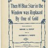 Then the blue star in the window was replaced by one of gold