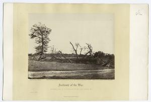 Incidents of the war : extreme line of Confederate works, Cold Harbor, Va.