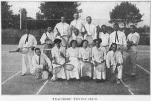 Teacher's Tennis Club.