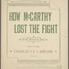How McCarthy lost the fight