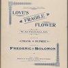 Love's fragile flower