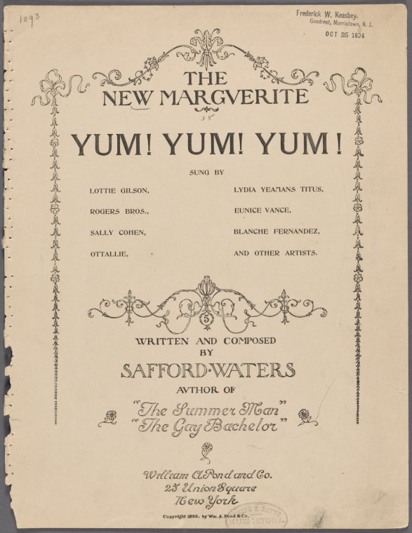 The new Marguerite / written and composed by Safford Waters.