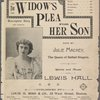 The widow's plea for her son