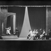 "Scene from ""The Seagull"" (L to R: Barbara Bulgakova as Nina Zarechnaia, on the stage, Lewis Leverett as Konstantin Treplev, Dorothy Sands as Irina Arkadina, E. J. Ballantine as Peter Sorin, et all. Ian M. Wolfe as Medvedenko, extreme right.)"