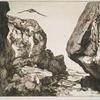 Gorge dans des rochers, d'après Jules Laurens