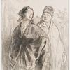 [La fille et la mère, d'après Gavarni.]