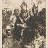 Saint Basile dictant sa doctrine, d'après Herrera le Vieux