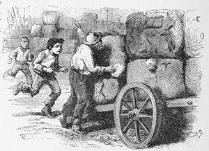 The cotton thieves. ; There is the old apple and cake woman.