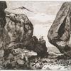 [Gorge dans des rochers, d'après Jules Laurens.]