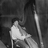 Harpo Marx [playing the harp]