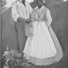 [African American couple holding a pail.]
