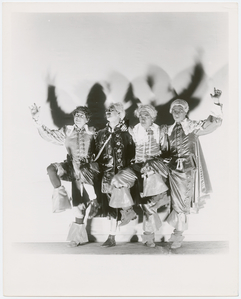 Marx brothers: Harpo, Groucho, Chico and Zeppo (as musketeers)